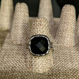 Black/silver statement ring